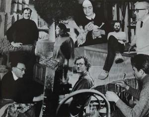 Die KBG 1970 von links oben: Rudolf Kedl, Christine Elefant Kedl, Sr. Elfriede Ettl, Wolfgang Baminger, Rudolf Klaudus; von rechts unten Feri Zotter, Peter Pongratz, Rudolph Richly